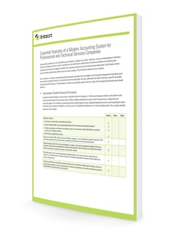 Essential Features of a Modern Accounting System for Professional and Technical Services Companies