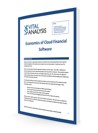 The Economics of Cloud Financial Software