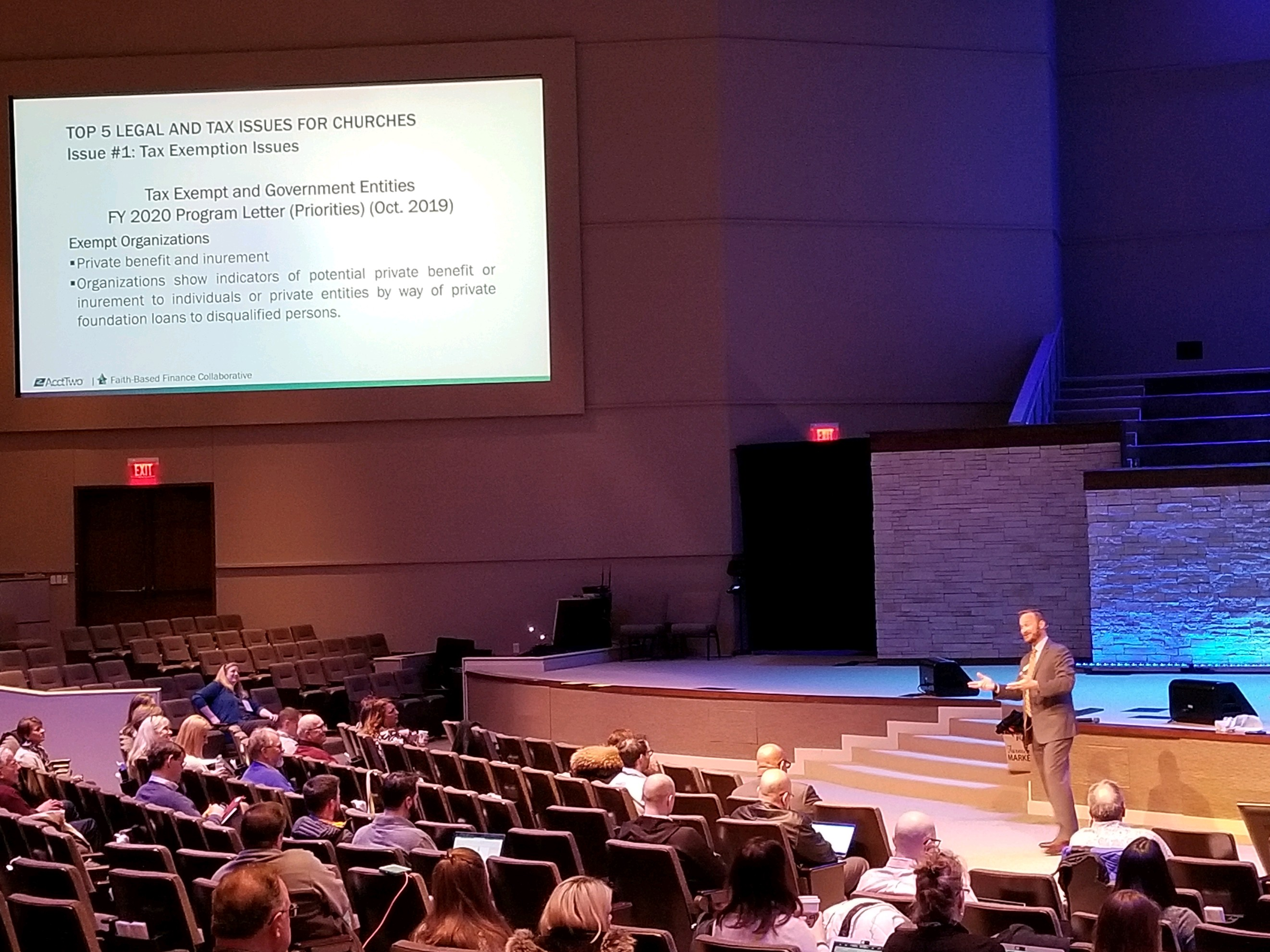 AcctTwo Fifth Faith Based Finance Collaborative Conference Top 5 Legal and Tax Issues for Churches