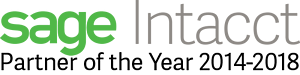 AcctTwo is Sage Intacct's Partner of the Year from 2014-2018