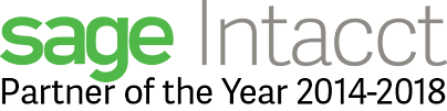 sage Intacct Partner of the Year 5 years in a row - accttwo