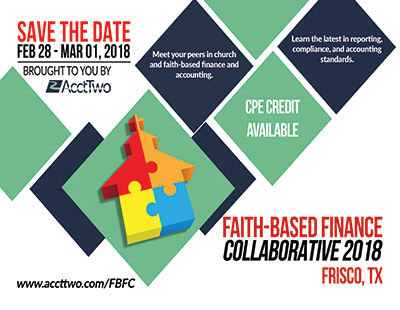 AcctTwo to Host Third Faith-Based Finance Collaborative Conference