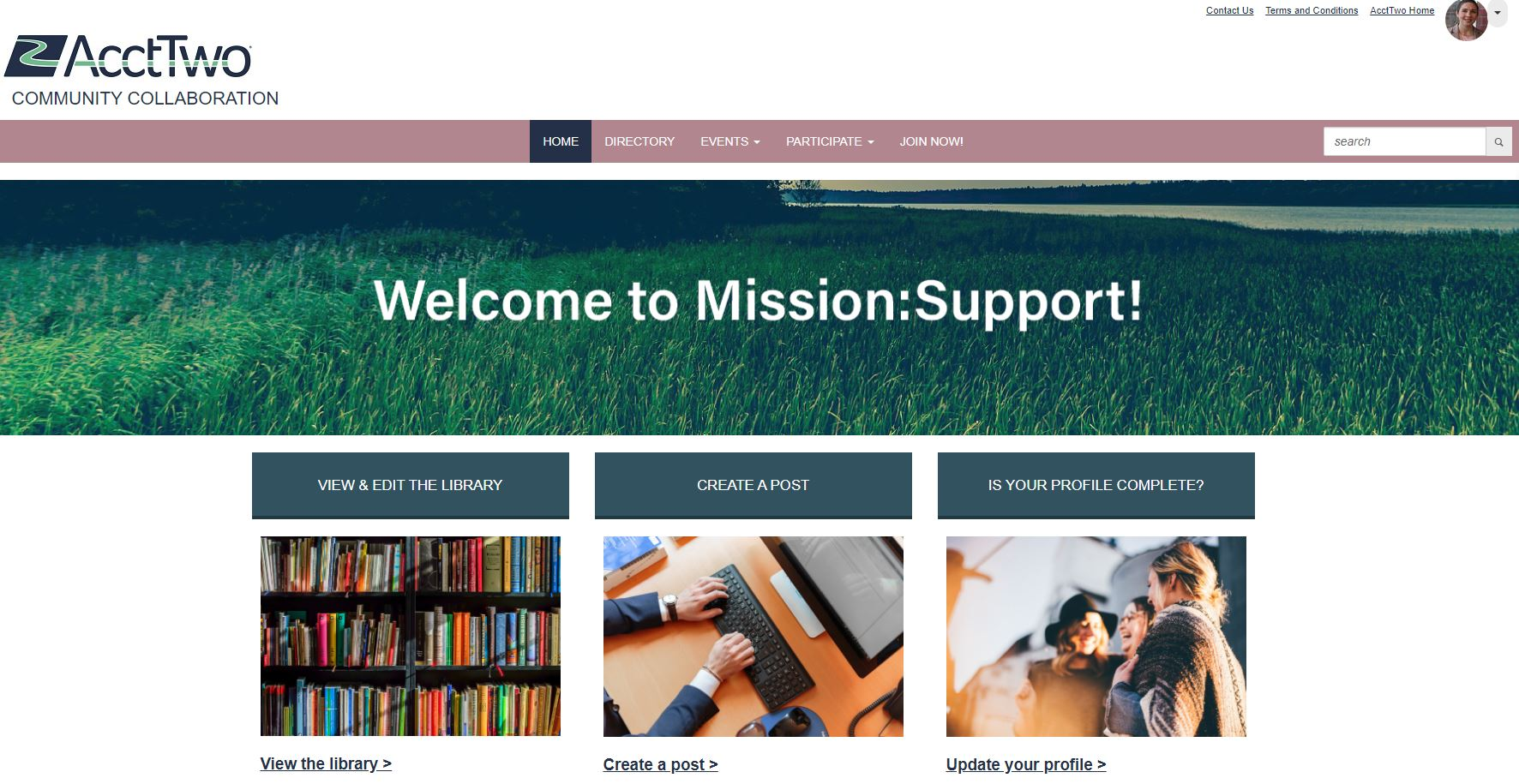 AcctTwo's Mission:Support Community
