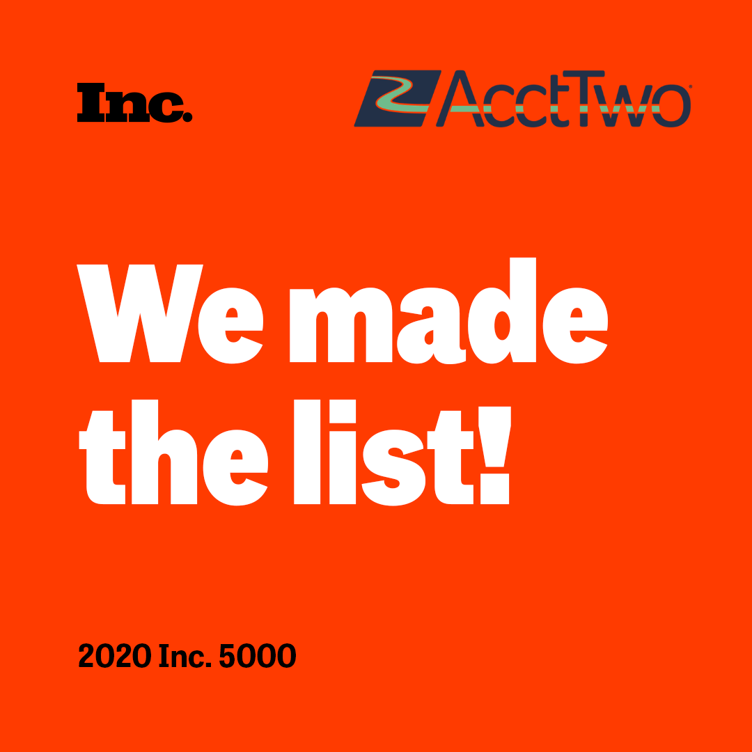 AcctTwo, Managed Accounting Experts Announce 4th Year on Inc. 5000 List