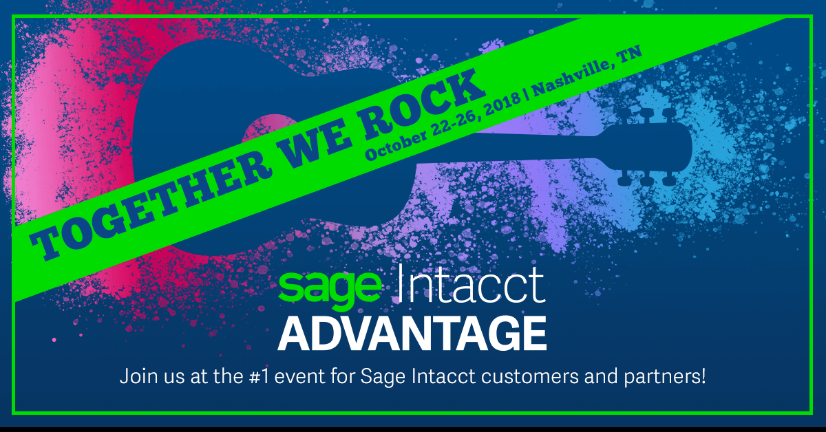 AcctTwo is a Gold Sponsor at Sage Intacct Advantage 2018
