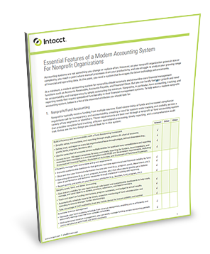 Essential Features of a Modern Accounting System for Nonprofit Organizations