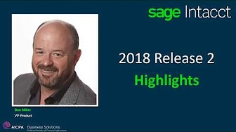 What's in Sage Intacct's Release 2 for 2018?